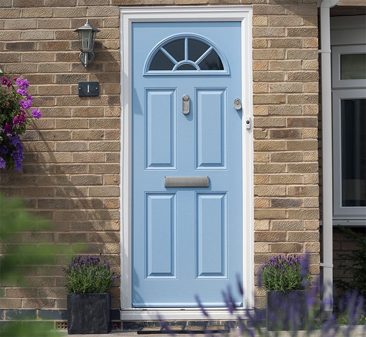Contemporary classic composite door blue