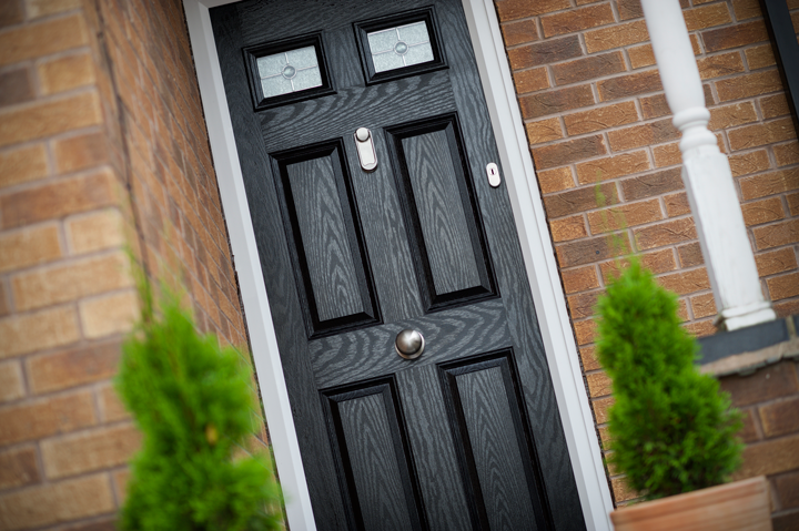 Contemporary classic composite door black